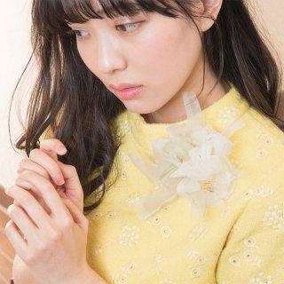 Ivory|やさしく彩る咲き編みコサージュ