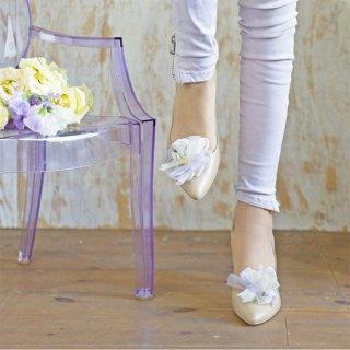【春限定】ビオラ|彩る咲き編みシューズクリップ