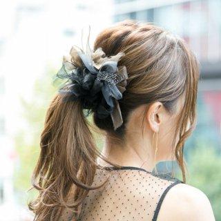 【冬季限定】マドンナ|咲き編みシュシュ