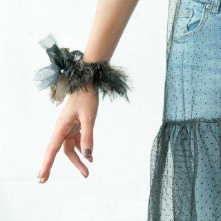 【冬季限定】mini|マドンナ|彩る咲き編みシュシュ