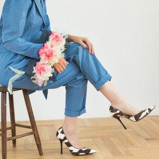スパイス|咲き編みクラッチ・ハンドバッグ(デニム)