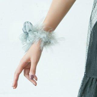 【冬季限定】mini|ルイーズ|彩る咲き編みシュシュ