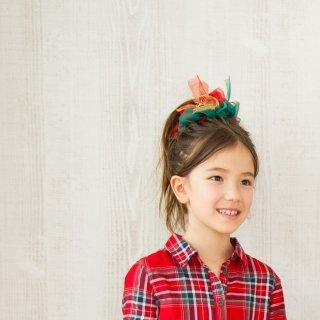 メリークリスマス|彩る咲き編みシュシュ
