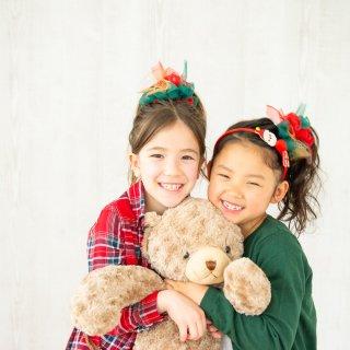 mini|メリークリスマス|咲き編みシュシュ