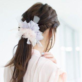 【春限定】スウィート|彩る咲き編みシュシュ