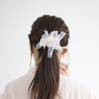 【春限定】mini|スウィート|咲き編みシュシュ