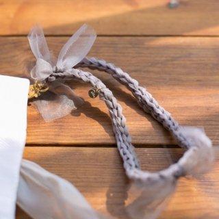 咲き編みハンドストラップ|咲き編みクラッチ・ハンドバッグオプション