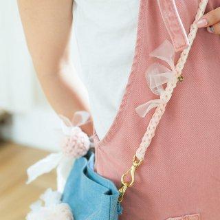 咲き編みストラップ|咲き編みクラッチ・ポシェットオプション