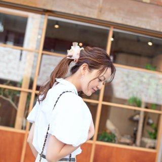 mini|チューリップ|咲き編みシュシュ