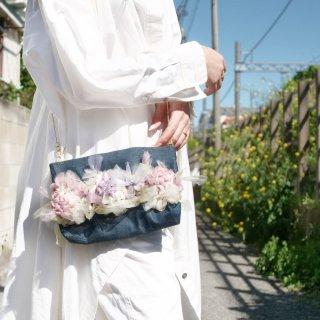ちょっとそこまで|咲き編みフラワーサコッシュ