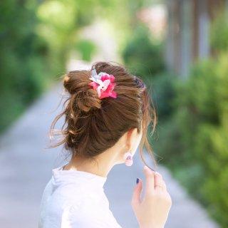 夏を彩る咲き編みヘアゴム|ベリー