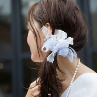 【夏限定】mini|ドルフィン|彩る咲き編みシュシュ