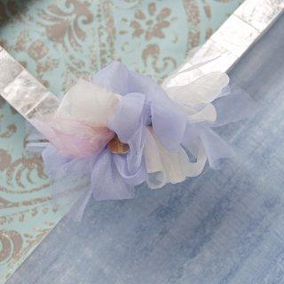 【限定】mini|ドルフィン|彩る咲き編みバレッタ/ヘアクリップ