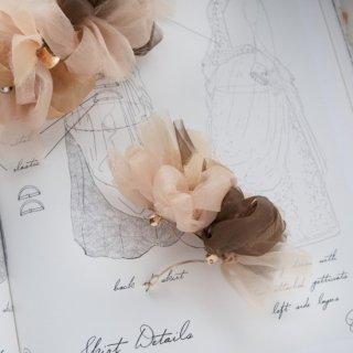 mini|マロン|彩る咲き編みバレッタ/ヘアクリップ