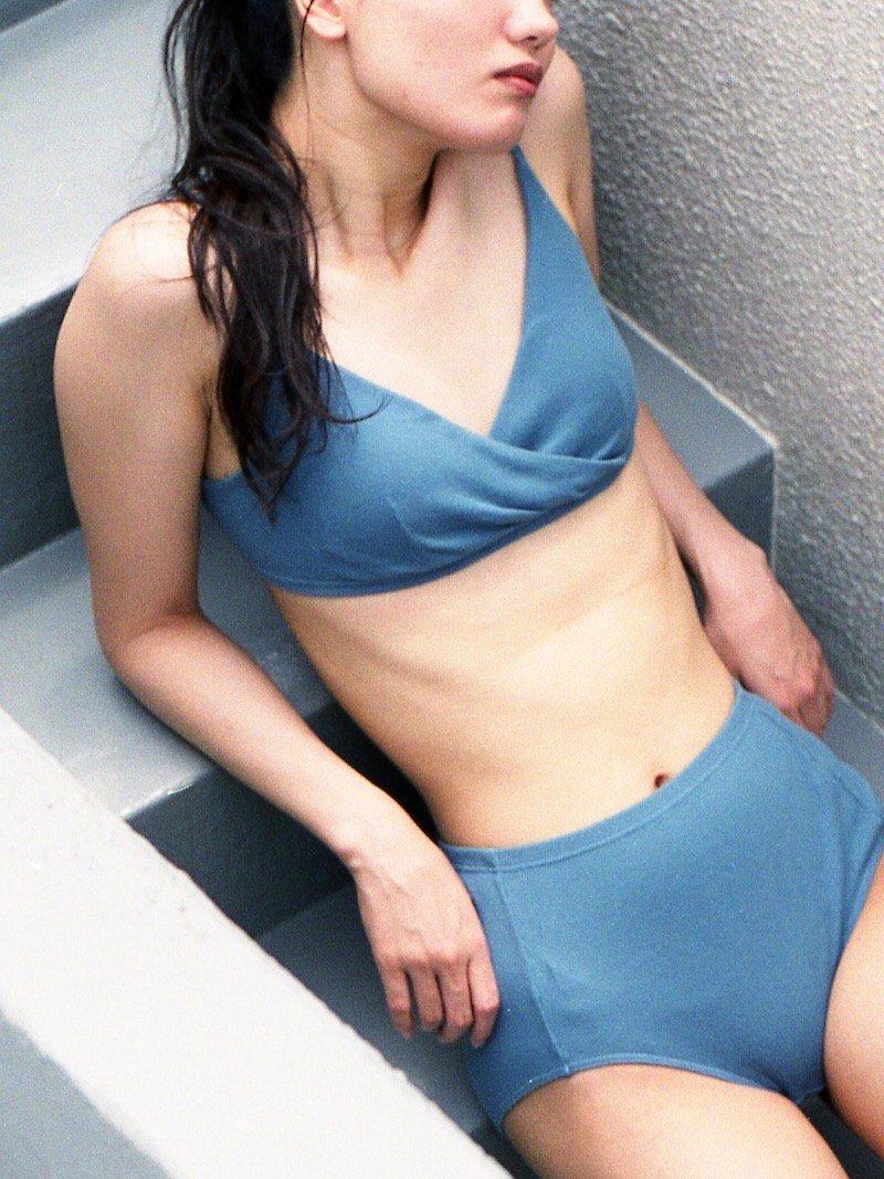 【SALE】Bra 0031(RIB) blue