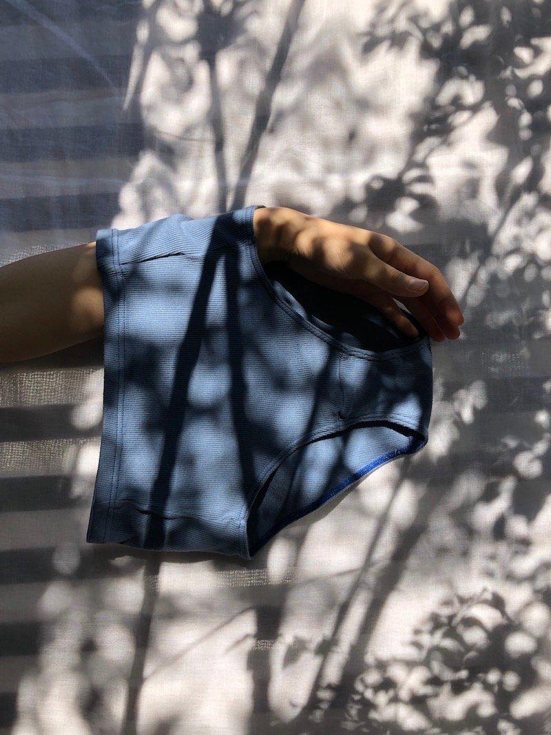 【SALE】Shorts 0031(RIB) blue
