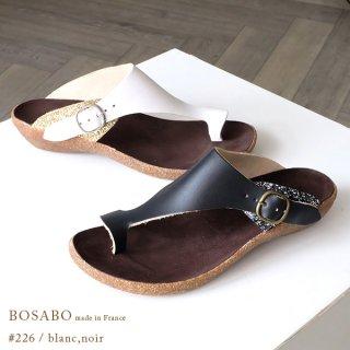 BOSABO ボサボ 本革 フラット トングサンダル (bosa226blanc)