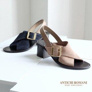 ANTICHI ROMANI アンティキ ロマーニ 本革 クロス ヒールサンダル (antichi404)