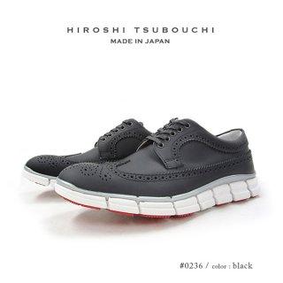 HIROSHI TSUBOUCHI ヒロシツボウチ 日本製 本革 ウイングチップ スニーカー ハイブリットシューズ (ht-0236)