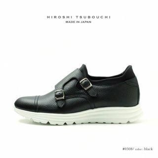 HIROSHI TSUBOUCHI ヒロシツボウチ 日本製 本革 ダブルモンク スニーカー ハイブリットシューズ (ht-0308)