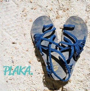 PLAKA SANDAL プラカ USブランド サンダル フラット ストラップサンダル (plaka-parmleaf)