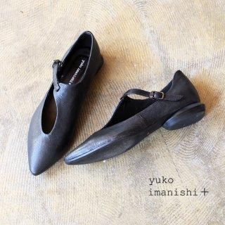 yuko imanishi+ 本革 ゴート デザイン ストラップ パンプス (yuko791039)