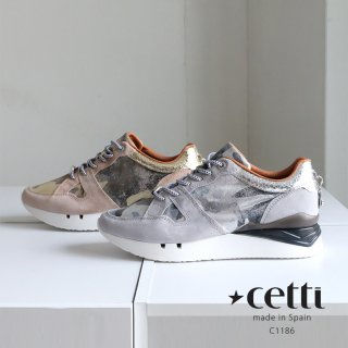 Cetti 本革 レディース 厚底 レザー スニーカー (cetti-c1186)