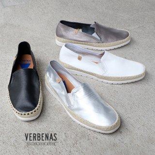 VERBENAS レディース 本革 シンプル フラット スリッポン (verbenas04)