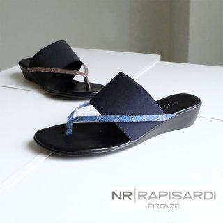 NR RAPISARDI イタリア製 ゴム トング ウェッジサンダル (rapisardi-mirella)