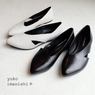 yuko imanishi+ 本革 フラットパンプス (yuko701045)