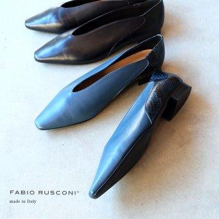FABIO RUSCONI ファビオルスコーニ パイソンコンビネーションパンプス (fabio5597)