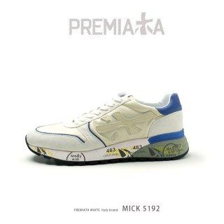 PREMIATA WHITE プレミアータ ホワイト MICK 4015 メンズ 本革 厚底 大人スニーカー (pre-mick4015)