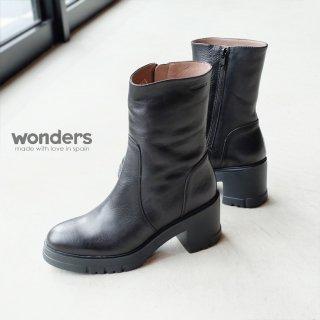 wonders 本革厚底ハーフブーツ (wonders4401)