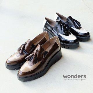 wonders エナメル タッセル厚底シューズ (wonders6221)