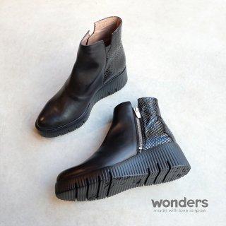 wonders 厚底サイドジップブーツ(wonders6224)