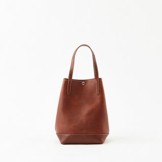 O.LEATHER VERTICAL TOTE M