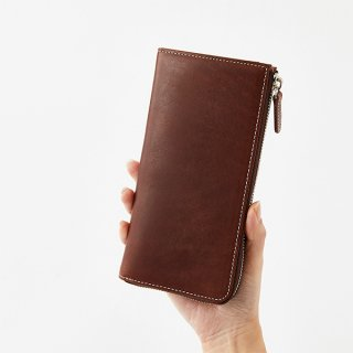 O.LEATHER ROUNDZIP WALLET L