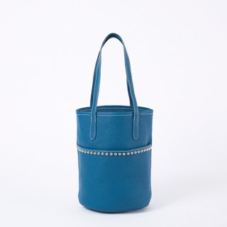 S.LEATHER STUDS TUBULAR TOTE