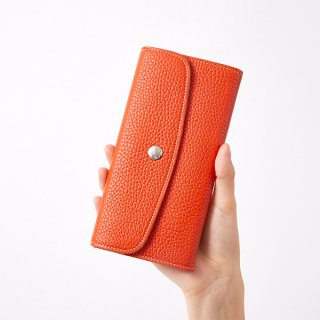 S.LEATHER FLAP WALLET