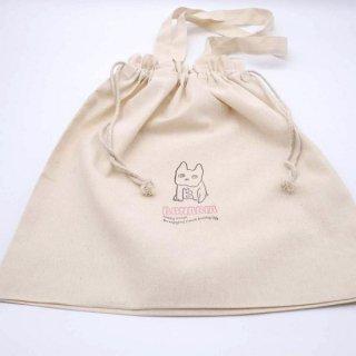 ボナビアコットン巾着トート(オリジナルピンク)