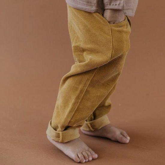 40%OFF - Fin & Vince corduroy button trouser / mustard