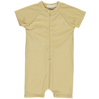 Fin & Vince ribbed one piece swimmer / mustard