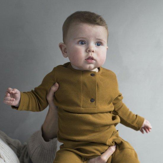Phil&Phae Henley jumpsuit / golden olive