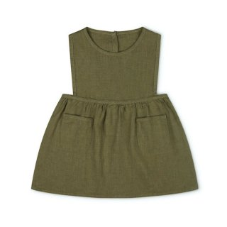 MATONA Nora Pinafore Dress / olive
