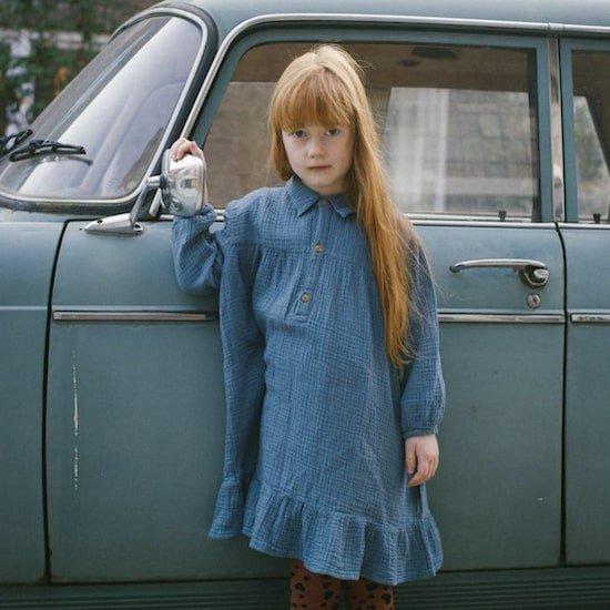 DAILY BRAT Lilyan dress / forest blue