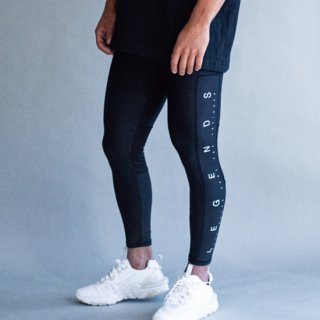 STRETCH SIDE PRINT LEGGINGS PANTS