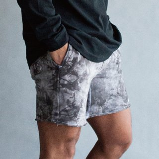 LEGENDS COTTON SWEAT TIE DYE SHORT PANTS