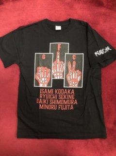 戦闘民族Tシャツ(黒/オレンジ)
