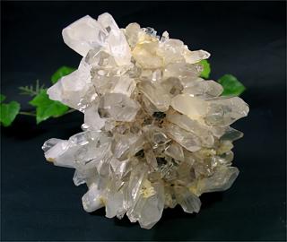 ブラジル産水晶クラスターwith エピドート4