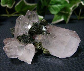 ブラジル産水晶クラスターwith エピドート41